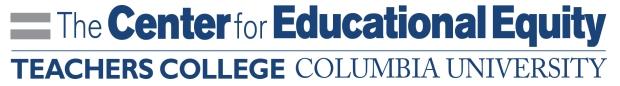 CENTER for Ed Equity banner
